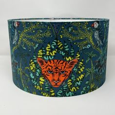 Excited to share the latest addition to my #etsy shop: Emma J Shipley Amazon Teal Leopard design drum lampshade British Standards, Red Leopard, William Morris, Light Shades, Drums, Teal, Bespoke, Navy, Amazon