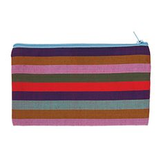 @WorldCrafts {Light of Hope Small Makeup Bag ~ Light of Hope ~ Bangladesh} Featuring colorful stripes, this petite cosmetic bag is perfect for storing small makeup items or jewelry! This bag is not only cheerful but helps provide a light of hope for beggar girls in Bangladesh. The Light of Hope center is a day shelter that gives impoverished girls education, life skills, health-care, and moral training. #fairtrade #supportfreedom