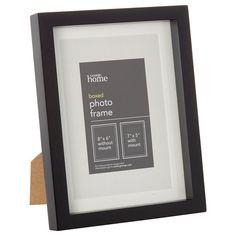 George Home Medium Black Boxed Frame   Frames & Albums   ASDA direct