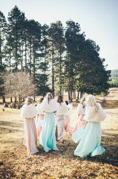 Winter pastel brides