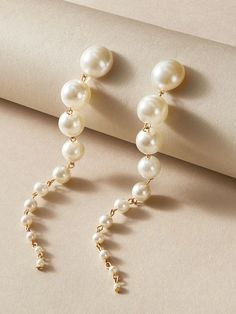 Pearl Drop Earrings, Statement Earrings, Women's Earrings, Pearl Design, Unique Earrings, Gold Material, Decoration, Jewelery, Pearl Jewelry