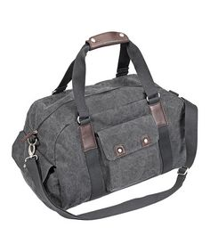 be2fdd1512 Steel Gray Washed-Canvas Small Duffel Bag