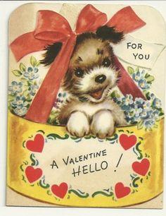 VINTAGE RUST CRAFT BOSTON VALENTINE CARD USED DATED 1948