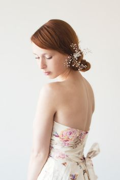 Pure - Swarovski Crystal Bridal Hair piece. $85.00, via Etsy.