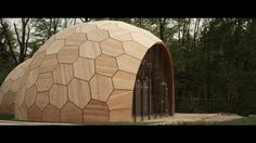 The Landesgartenschau Exhibition Hall is an architectural prototype building and a showcase for the current developments in computational design and robotic fabrication… Art And Technology, Outdoor Gear, Tent, Architecture, Tiny Houses, Design, Pavilion, Plywood, Arquitetura