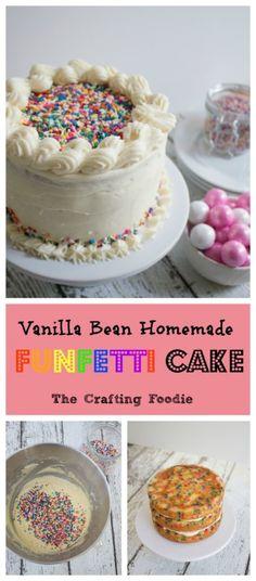 Vanilla Bean Homemade Funfetti Cake