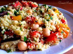 Cous cous con ceci e verdure grigliate