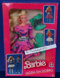 Rare 1980s Estrela Brazil MODA EM DOBRO SUPERSTAR BARBIE NRFB Colorful Foreign   Dolls & Bears, Dolls, Barbie Contemporary (1973-Now)   eBay!