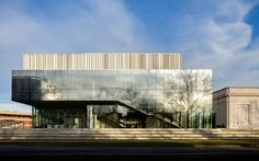 Los Angeles architecture firm wHY has completed an expansion of the Speed Art Museum in Louisville, Kentucky, featuring facades of fritted glass and corrugated metal panels Museum Logo, Why Architecture, Speed Art Museum, Fritted Glass, Louvre Museum, Pavillion, Glass Facades, Facade Design, Facade House