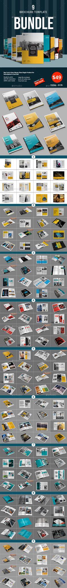 #Brochure #Template #Bundle - Corporate Brochures Download here: https://graphicriver.net/item/brochure-template-bundle/18100663?ref=alena994