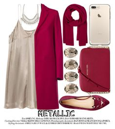 """HEAVY METAL: METALLIC DRESSES"" by noraaaaaaaaa ❤ liked on Polyvore featuring ALDO, MSGM, Charlotte Olympia, MICHAEL Michael Kors and Melissa Joy Manning"
