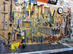 bike shop tool wall