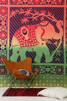 Magical Thinking Rainbow Elephant Tapestry #urbanoutfitters