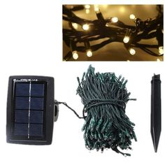 AGPtek® 72ft 200 LED Solar String Light Christmas Holiday Party Decoration Fairy Warm White by AGPtek. $28.99. 2 Light Modes: 1) Flashing/Glimmering 2) Steady On. Auto Sensor controls lighting and recharging. Simple to use for no hassle lighting. LED light can keep glowing for about 8 hours at night after fully charged (more than 6 hours) during the day. Larger Solar Panel 200 LED at 10cm spacing. Specifications: Larger Solar Panel  Simple to use for no hassle lighting 2...
