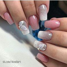 59 New Year's Nail Art Designs, Beautiful and Fashionable for Winter – ShelbyFashions Cute Nail Art, Beautiful Nail Art, Gorgeous Nails, Square Nail Designs, Gel Nail Designs, New Year's Nails, Hair And Nails, Creative Nail Designs, Creative Nails