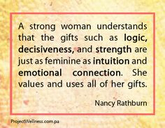 Us women are full of beautiful gifts… lets share them with the world :)