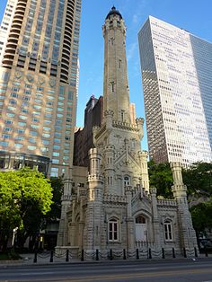 The Water Tower in downtown Chicago.