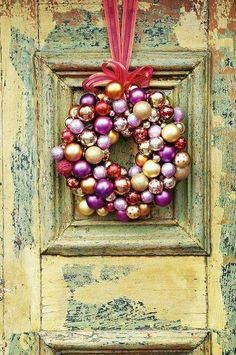 Vintage Christmas Ornament Wreaths