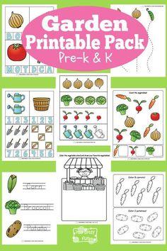 Free Garden theme Printables for Preschool and Kindergarten Preschool Curriculum, Preschool Printables, Preschool Themes, Preschool Lessons, Preschool Classroom, Preschool Learning, Classroom Activities, In Kindergarten, Teaching
