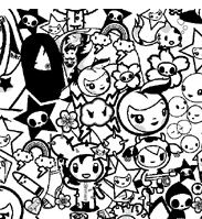 tokidoki coloring pages tutti print preview released on lesportsac japan website - Tokidoki Unicorno Coloring Pages