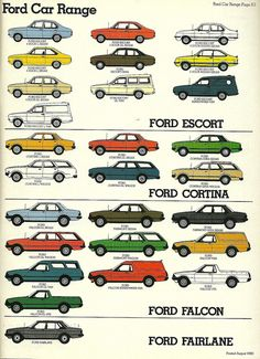 Ford lineup for Australia 1980 by Hugo90, via Flickr