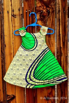 Girl's Reversible Sun Dress with African by PeacockProductionsUS, $26.00