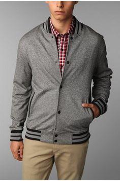 Proving baseball jackets can work! For affordable designer fashion visit: www.hypedirect.com