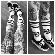 . #Tattoos #Legs the traditional roses on the knee caps is my next goal