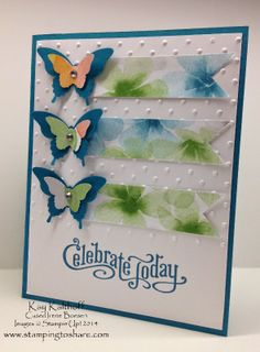 Perfectly Penned All Occasion Butterfly Card with a How To Video, Kay Kalthoff, Stampin' Up!, Stamping to Share, Watercolor Wonder Designer Series Paper, Butterfly Punches