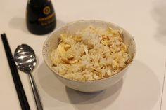 Simple egg fried rice. The foundation of adding anything you want except sweets
