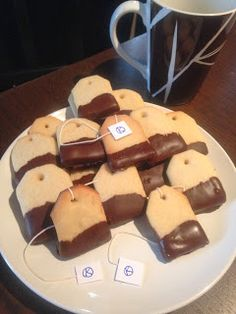How To, How Hard, and How Much: Tea Bag Cookies - Perfect for a Sherlock Holmes or Downton Abbey Party!