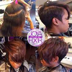 STYLIST FEATURE| Love this edgy #pixiecut✂️ #transformation done by #HamptonVA…