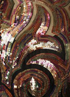 Sequinned dress, by Mainbocher, 1937. Metropolitan Museum. Detail.