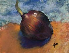 Red Onion #4 - Original Fine Art By Ginny Stocker