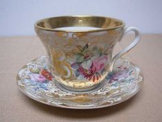 German Antique Tea Cups Saucers | ... Arts - Ceramics & Porcelain - Cups & Saucers | Antiques Browser