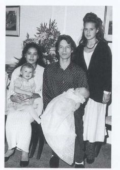 James Jagger - Karis with Elizabeth, Mick with James, and Jade Jagger - 366 x 519