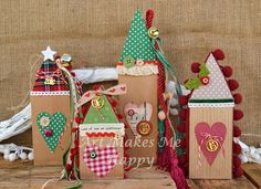 Art Makes Me Happy: Γούρια 2015-2016 Xmas Crafts, Diy And Crafts, Crafts For Kids, Christmas Love, Christmas Ornaments, Xmas Decorations, Christmas Inspiration, Miniature, Lucky Charm