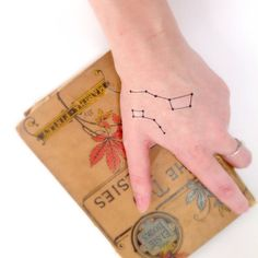 Constellation Temporary Tattoo Space by HilliaryCustomLiving, $4.00