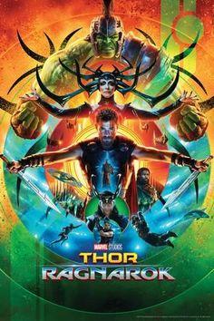 Poster: Thor: Ragnarok - Thor, Hulk, Valkyrie, Loki, Hela, Heimdall, Grandmaster : 36x24in