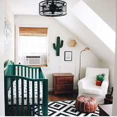With baby boy number five on the way, I was sucked in to this gorgeous nursery by @apluslifeblog! It's like a dreamy desert oasis for babies! Absolutely love this space! #ccfaves