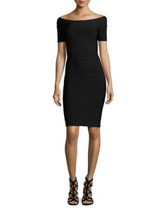 Boat-Neck Bandage Dress in Small OR Neiman gift card