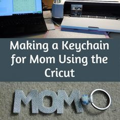 Making a Keychain for Mom Using the Cricut Diy Crafts For Gifts, Homemade Crafts, Leather Sheets, Things To Think About, Cricut, Jewelry Making, Mom, How To Make, Life