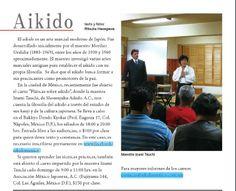 Nota en la revista Tabi Tabi sobre la conferencia de Sensei Izumi Tauchi, donde…