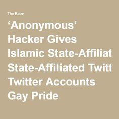 'Anonymous' Hacker Gives Islamic State-Affiliated Twitter Accounts Gay Pride Makeovers