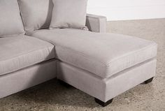 Egan II Cement Sofa With Reversible Chaise - Detail Sectional Sofa With Chaise, Chaise Cushions, Couch, Sofas, Cozy Living Rooms, Living Room Decor, Living Spaces, Bed Settee, First Apartment