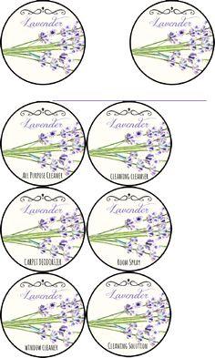 PRINTABLE LABELS Lavender Cleaning Labels