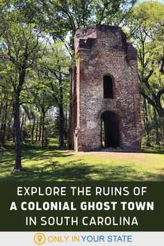 Explore abandoned ruins at Colonial Dorchester State Historic Site. This unique state park in South Carolina has a ghost town with a fort, church, cemetery, and more. It's great for a relaxing, scenic walk, photographer photoshoots, and family day trips. Vacation Places, Dream Vacations, Vacation Trips, Places To Travel, Travel Destinations, Oh The Places You'll Go, Places To Visit, Just Dream, What A Wonderful World