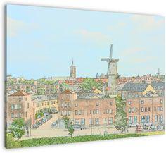 Nog een uitzicht over Schiedam