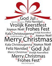 Kerstwensen in vele talen.