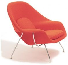 Chaise Womb avec coussin tissu Cato - Knoll - The Conran Shop Florence Knoll, Eero Saarinen, Contemporary Chairs, Modern Chairs, Contemporary Design, Midcentury Modern, Modern Design, Sun Chair, Womb Chair